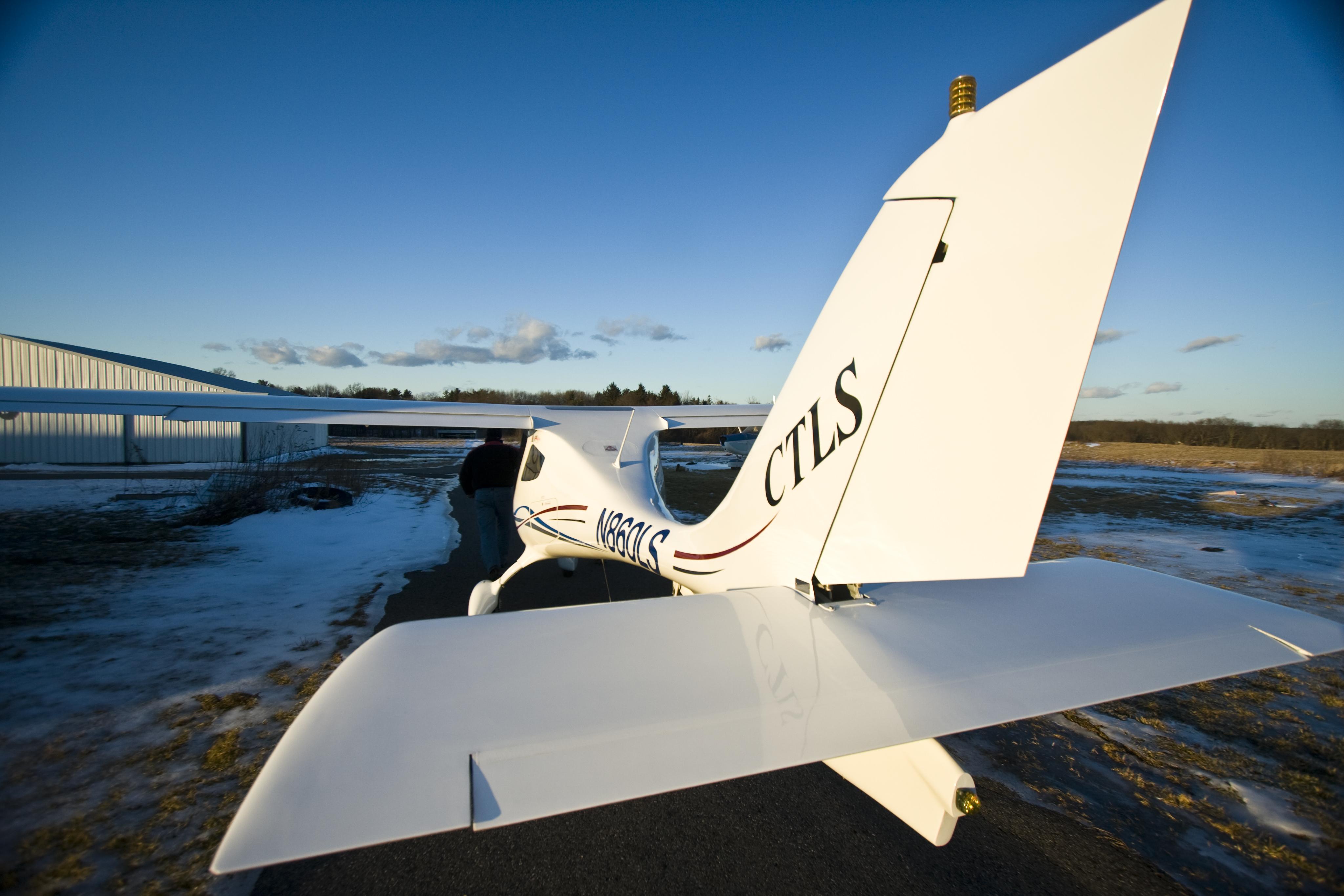 Ground forward over tail- Blue sky